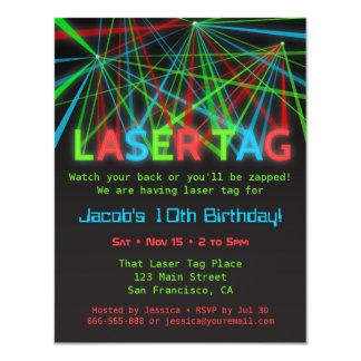 Neon fasst Laser-Umbau-Geburtstags-Party 10,8 X 14 Cm Einladungskarte