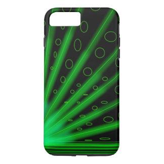 Neon glühende grüne Retro lazers iPhone 8 Plus/7 Plus Hülle