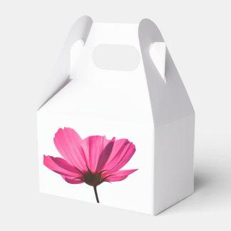 Neon Pink Flower and cute butterfly cardboard box Geschenkschachtel