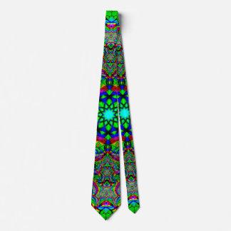 Neon psychedelisch personalisierte krawatten