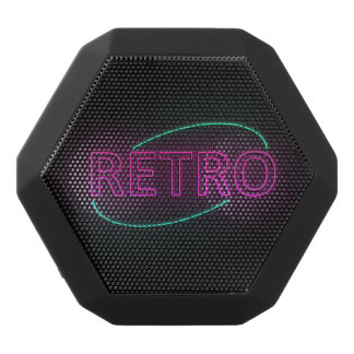 Neon retro. schwarze bluetooth lautsprecher