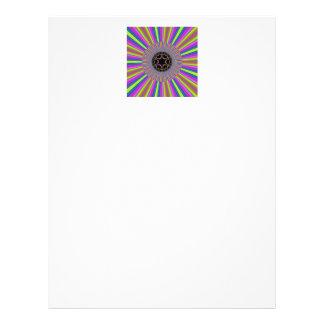 Neon Stripes Sonnendurchbruch-Fraktal Personalisierte Flyer