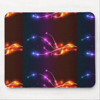 Neon-Welle-Vektor-Hintergrund NEONwellen-WIRBELS-L Mauspads