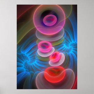 Neonblasen cooles künstlerisches abstraktes Plaka