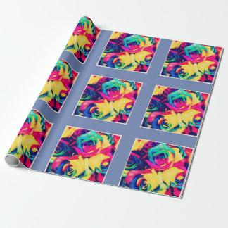 NeonblumenPackpapier Geschenkpapier
