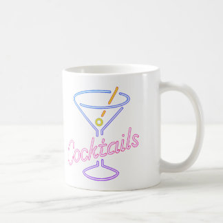 Neoncocktail-Zeichen-Tasse Kaffeetasse