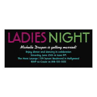 Neondamen-Nachtkarte Personalisierte Ankündigungen