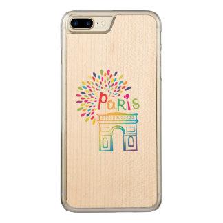 Neonentwurf Paris Frankreich | der Arc de Triomphe Carved iPhone 8 Plus/7 Plus Hülle