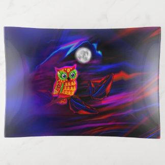 Neoneulen-Gewitter-Blitz Dekoschale