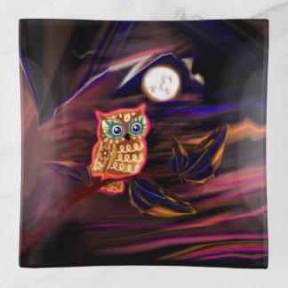 Neoneulen-Gewitter-Blitz-Fantasie Dekoschale