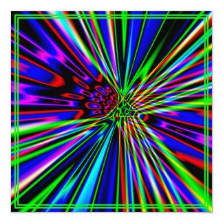 Neonexplosions-Limoner Geburtstag Quadratische 13,3 Cm Einladungskarte