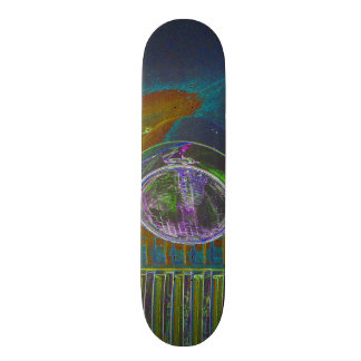 Neonfiretruck-Entwurf Skateboarddeck