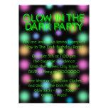 Neonglühen im dunklen Geburtstags-Party Einladungskarten