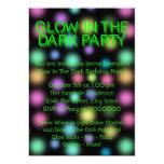 Neonglühen im dunklen Geburtstags-Party 12,7 X 17,8 Cm Einladungskarte