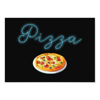 Neonglühen-Pizza Karte