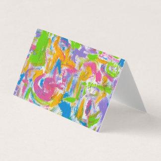 NeonGraffiti-hand gemalte abstrakte Brushstrokes Visitenkarten