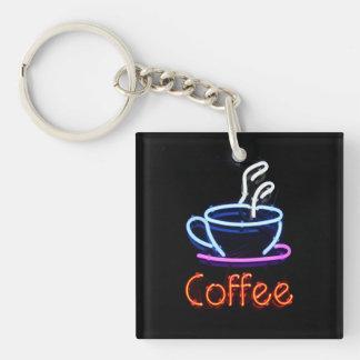 Neonkaffee-Zeichen Schlüsselanhänger