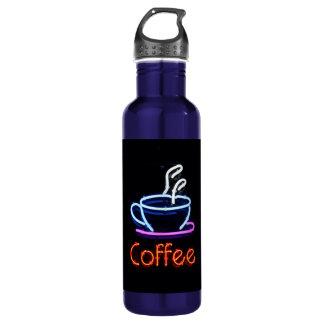 Neonkaffee-Zeichen Trinkflasche