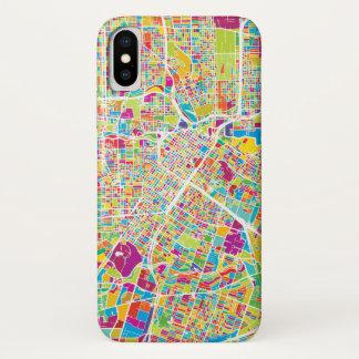 Neonkarte Houstons, Texas | iPhone X Hülle