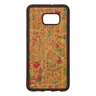Neonkarte Houstons, Texas | Samsung Galaxy S6 Edge Holzhülle