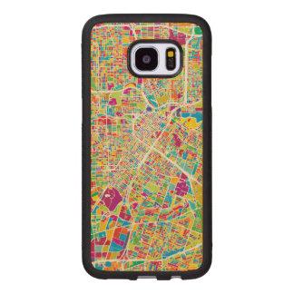 Neonkarte Houstons, Texas | Samsung Galaxy S7 Edge Holzhülle