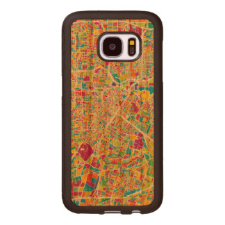 Neonkarte Houstons, Texas | Samsung Galaxy S7 Holzhülle