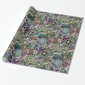 Neonkaskadenblumengänseblümchen-Geschenkverpackung Geschenkpapier