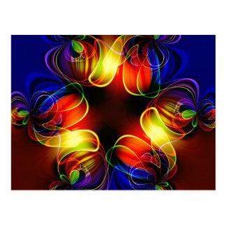 Neonlicht-Fraktal Postkarten