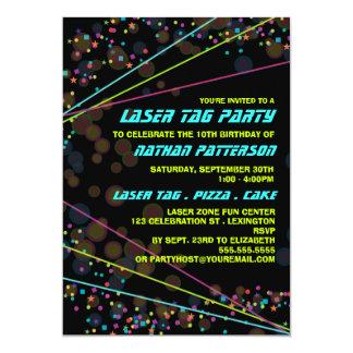 Neonlicht-Laser-Umbau-Geburtstags-Party Einladung