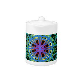 Neonlicht-Mandala-Entwurf