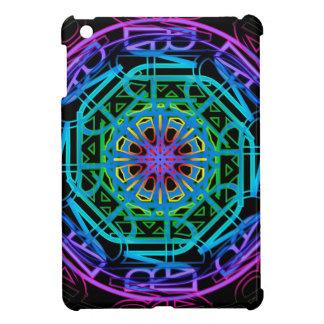 Neonlicht-Mandala-Entwurf iPad Mini Hülle