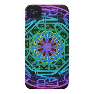 Neonlicht-Mandala-Entwurf iPhone 4 Case-Mate Hülle