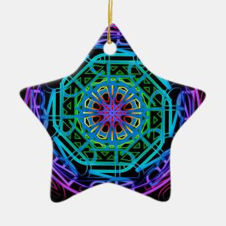 Neonlicht-Mandala-Entwurf Keramik Ornament