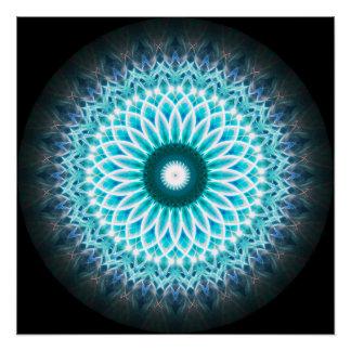 NeonLotus-Mandala-Ball Poster