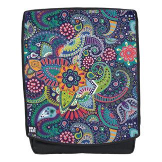 Neonmehrfarbenblumenpaisley-Muster Rucksack