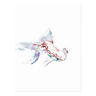 Neonmehrfarbenregenbogen-Fische/Goldfisch/Koi Postkarte
