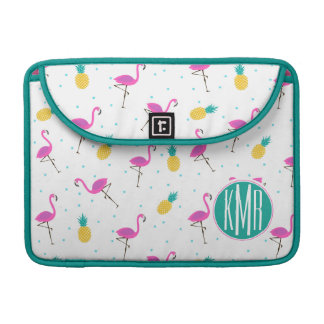 Neonmonogramm der flamingo-| sleeve für MacBooks