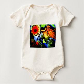Neonnarzissen Baby Strampler
