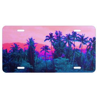 Neonpalme-Paradies US Nummernschild