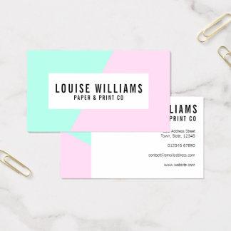 Neonpastellflieder- und Minzen-Visitenkarte Visitenkarte