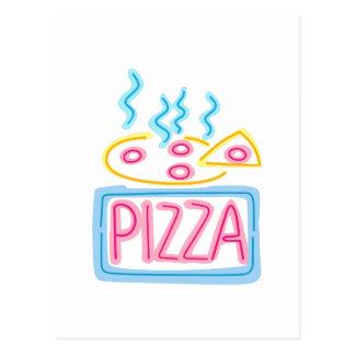 Neonpizza-Zeichen Postkarte