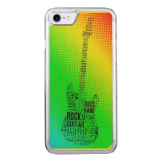 NeonPop-Kunst-Felsen-Gitarren-Wort-Wolke Carved iPhone 8/7 Hülle
