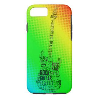 NeonPop-Kunst-Felsen-Gitarren-Wort-Wolke iPhone 8/7 Hülle