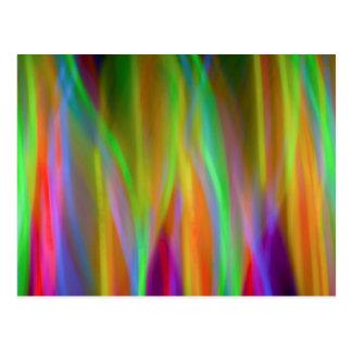 Neonregenbogen - hell und nett - Postkarte