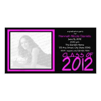 Neonrosa des Abschluss-2012/ Bildkarte
