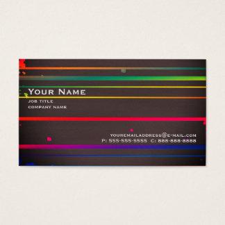 Neonstreifen Visitenkarte