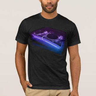 NeonTurntable-T - Shirt DJ 3D