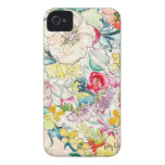 Neonwatercolor-Blume iPhone Fall Case-Mate iPhone 4 Hülle