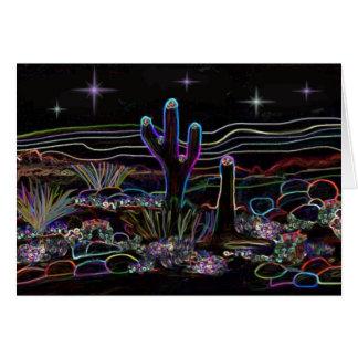 Neonwüste Stary Nacht Mitteilungskarte