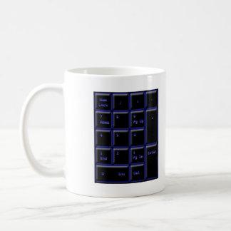 Neonzahl-Auflage Kaffeetasse
